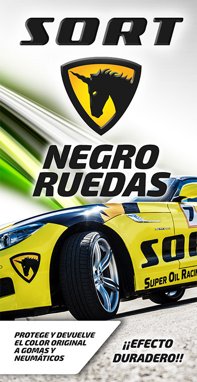 SORT Negro ruedas