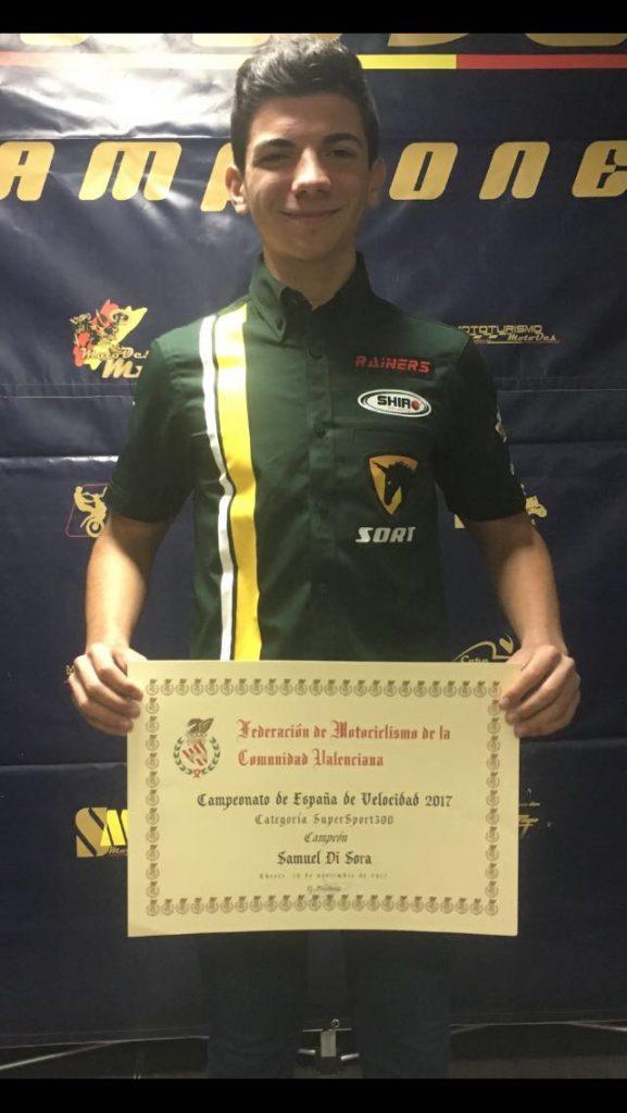 Samuel Di Sora Campeón de España de la categoría SSP 300
