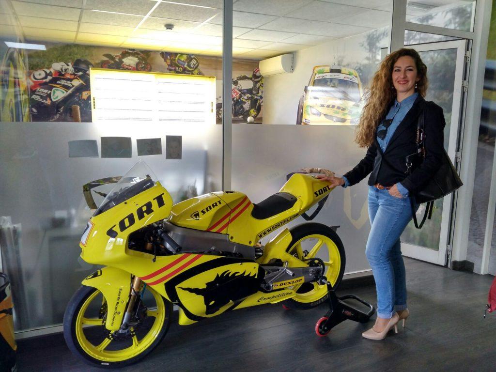 Maria Estela Leiva en las instalaciones de SORT International