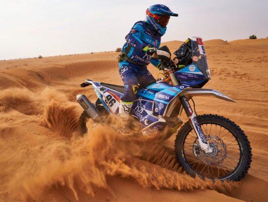 Dani Albero finaliza el Dakar 2021
